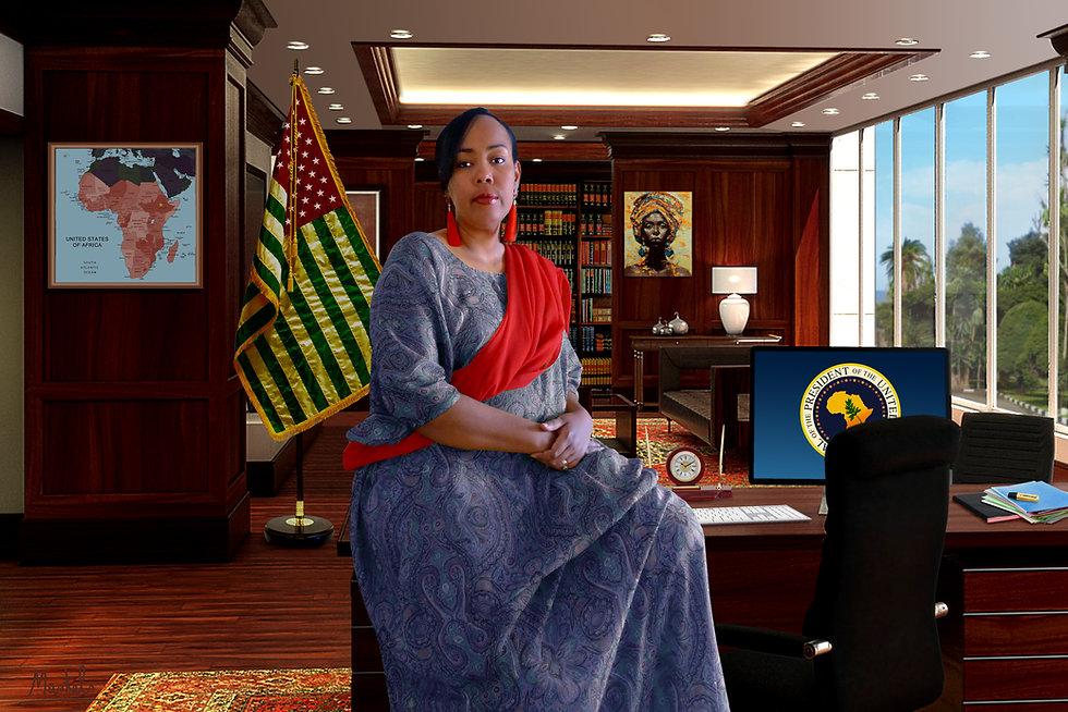 La Présidente des Etats Unis d'Afrique