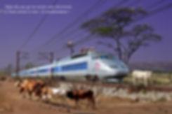Le TGV en panne dans un paysage désertique