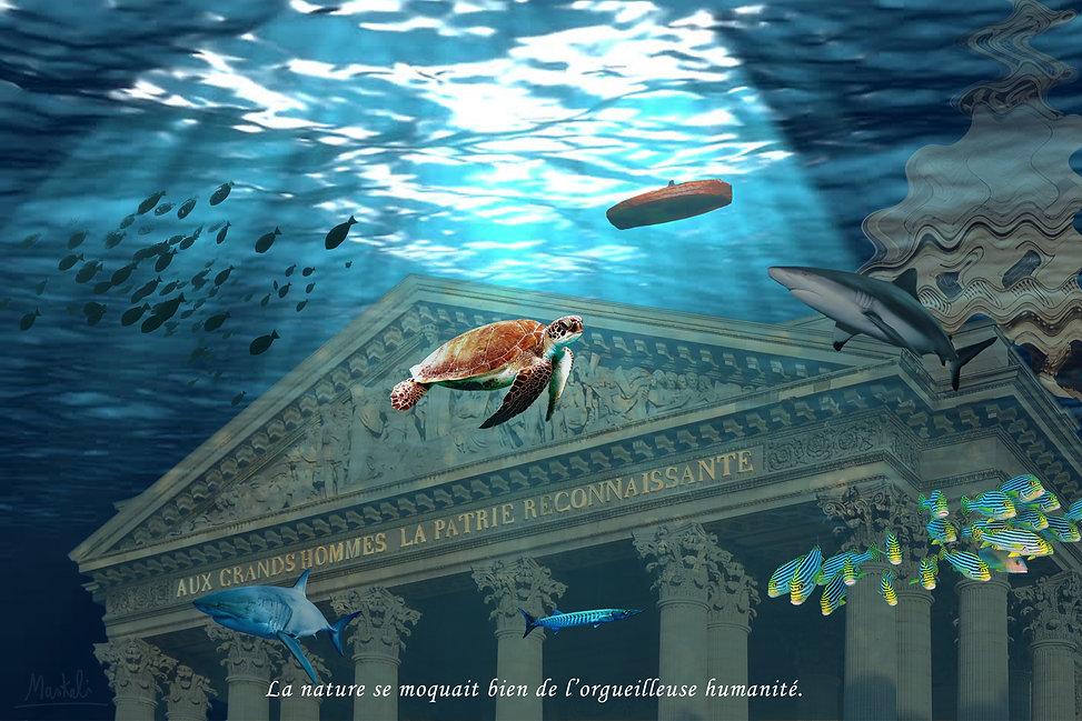 le Panthéon de Paris sous la mer