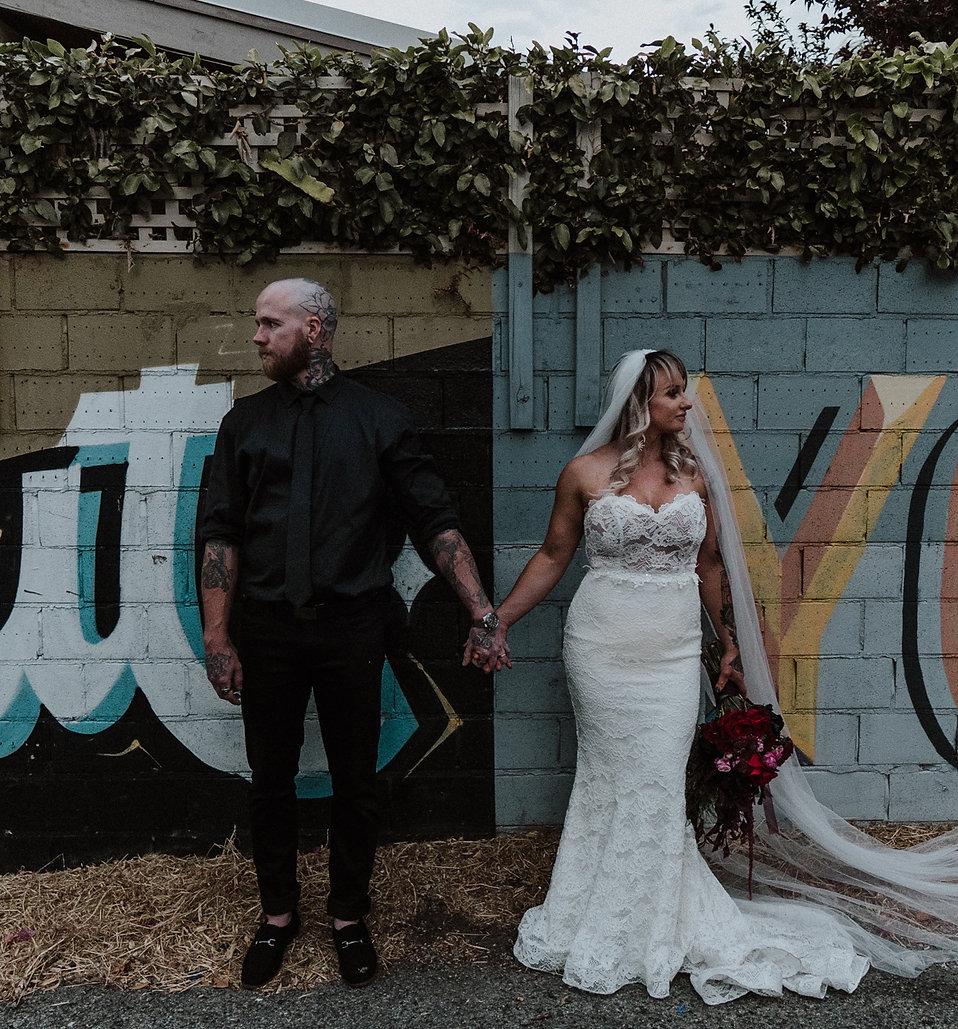 Moody rustic tattoo wedding photography perth