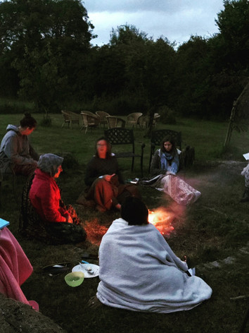Sharing around the fire
