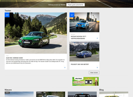 VROOM.be innovates and becomes a vast site of automobile advice