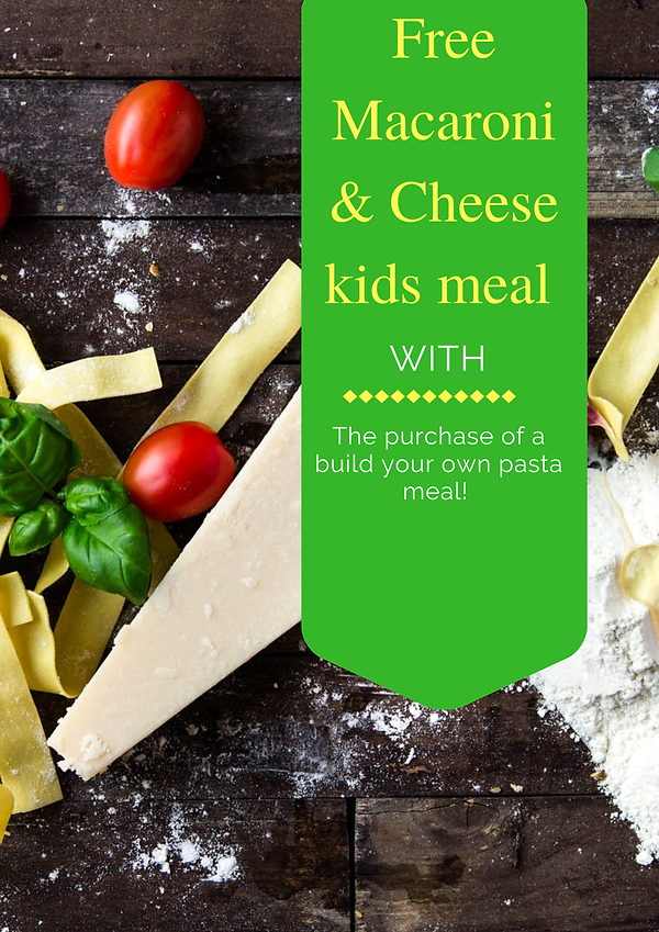 Free Macaroni & Cheese kids meal with th