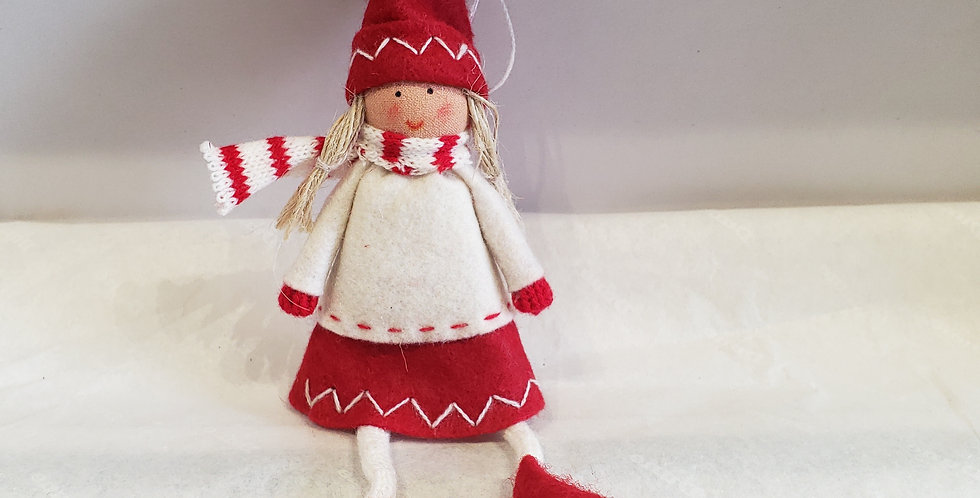 Red Girl Tree Decoration