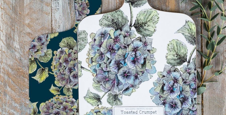 Mini Chopping Board Hydrangea