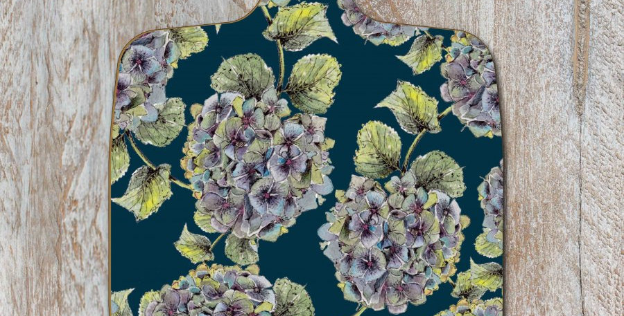 Chopping board Hydrangea Noir