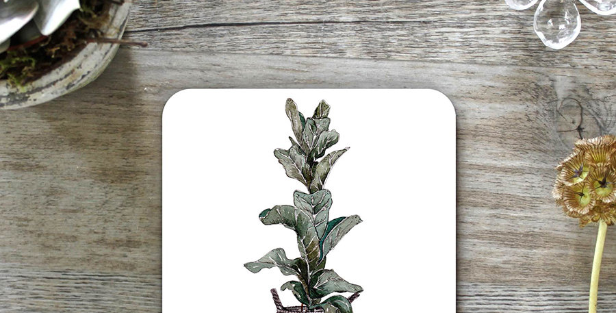 Fiddle Leaf Fig Coasters (Set of 4)