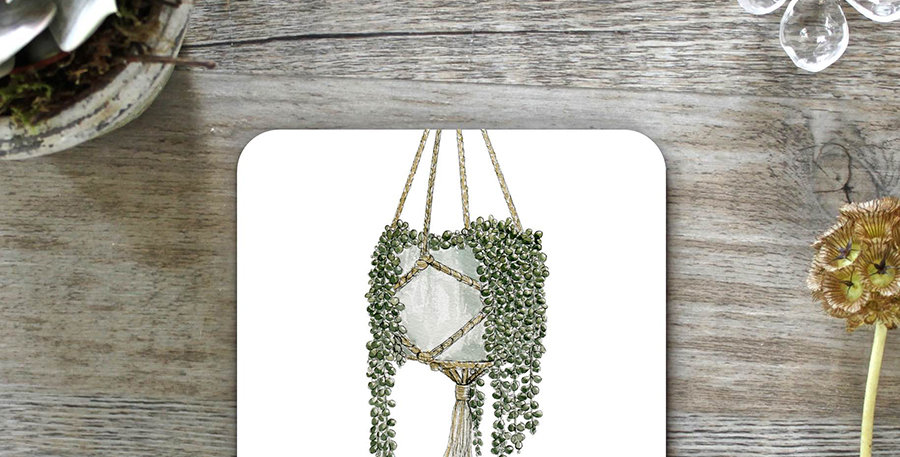 String Of Pearls Coasters (Set of 4)