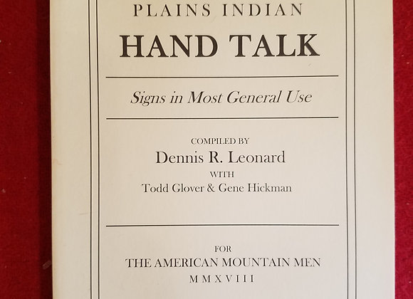 Plains Indian Hand Talk