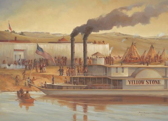 Print - First Steamship to Fort Union