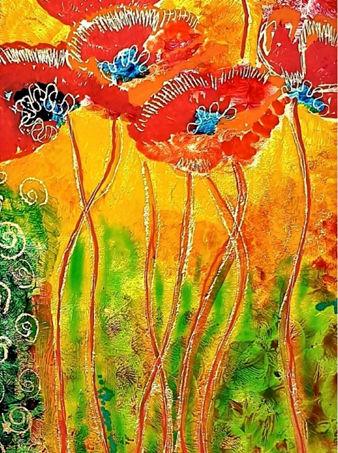 Lisa Burkl Reverse Glass Painting