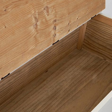 The Jelks Storage Bench is made from solid pine and has been naturally oxidized to give it an attractive aged patina.