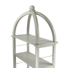 The sturdy design can hold many items such as books and decorative pieces.