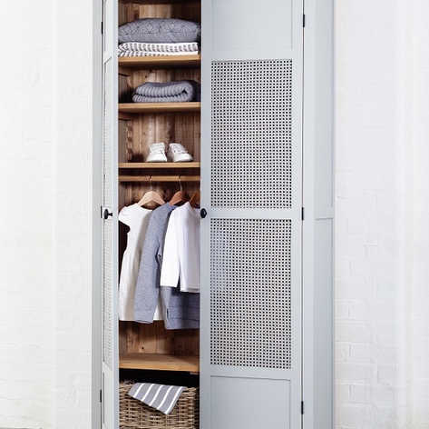 The Woven Cane door option will add a touch of character to your child's bedroom, alternatively you could use this option as the perfect abode to store your linen.