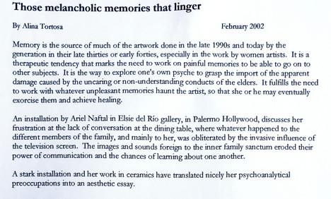 These melancholic memories that linger