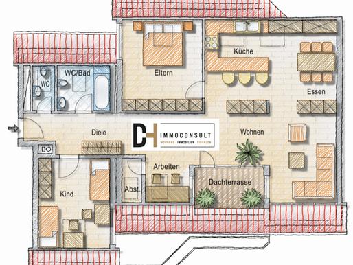 Off-Market Angebot - 3,5 Zimmer-Dachgeschosswohnung in Horkheim zu verkaufen