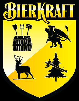 BierKraft Words Crest Logo Black and Yellow.png