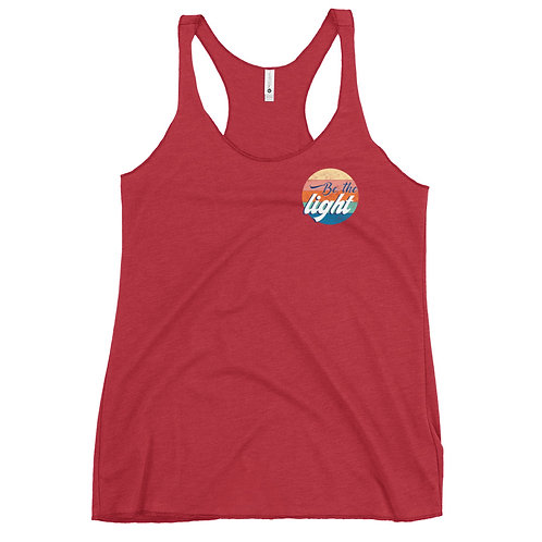 Be the light Racerback Tank