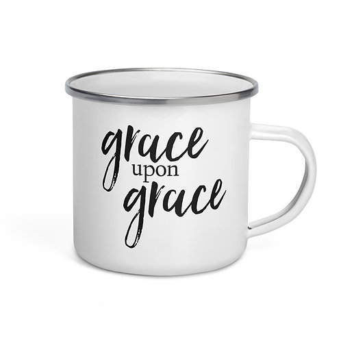 Grace upon Grace Enamel Mug