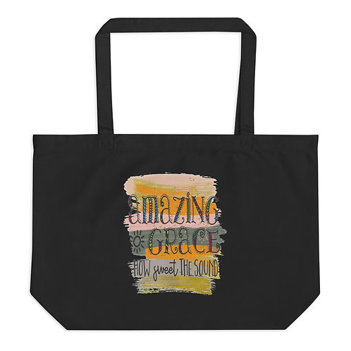 Large organic (Living Blessed) tote bag