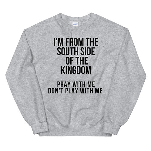 Pray with me don't play with me black letters Sweatshirt