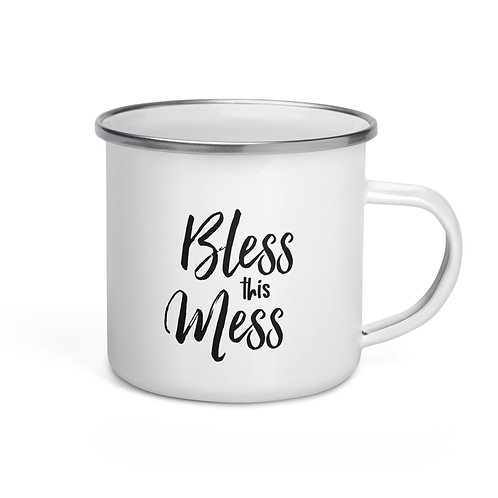 Bless This Mess Enamel Mug