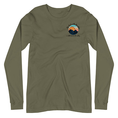 god of the mountains long sleeve tee