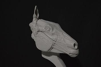 newimage prop replicas horse head sculpt