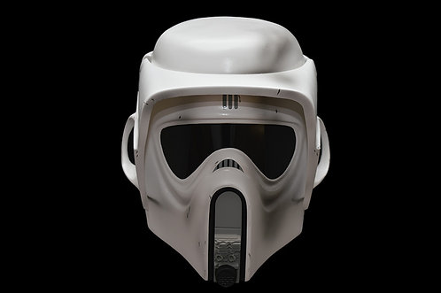 Star wars Biker scout trooper helmet Weathered