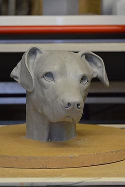 Dog portrait sculpture newimage prop rep