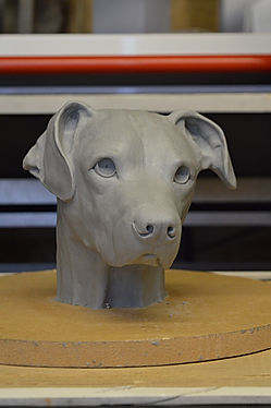 Dog portrait sculpture newimage prop rep