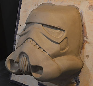 stormtrooper helmet sculpture
