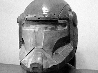 Republic commando helmet sculpture