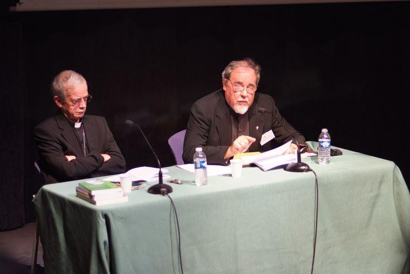 Mgr de Berranger et le Père Tremblay