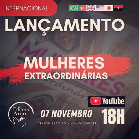 A Editora Anjo está convidando você para assistir o Web Lançamento no Youtube dia 07/Novembro/18H.