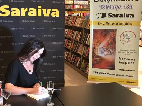 Lançamento Cleidiane Fidelis - Saraiva Iguatemi Sorocaba