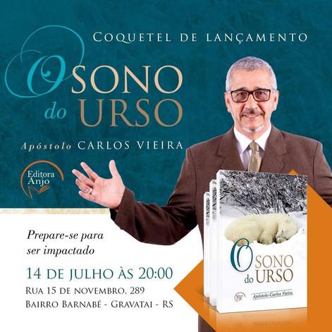 Lançamento O SONO DO URSO  - Carlos Vieira - Editora Anjo DIA 15 DE JULHO AS 20H