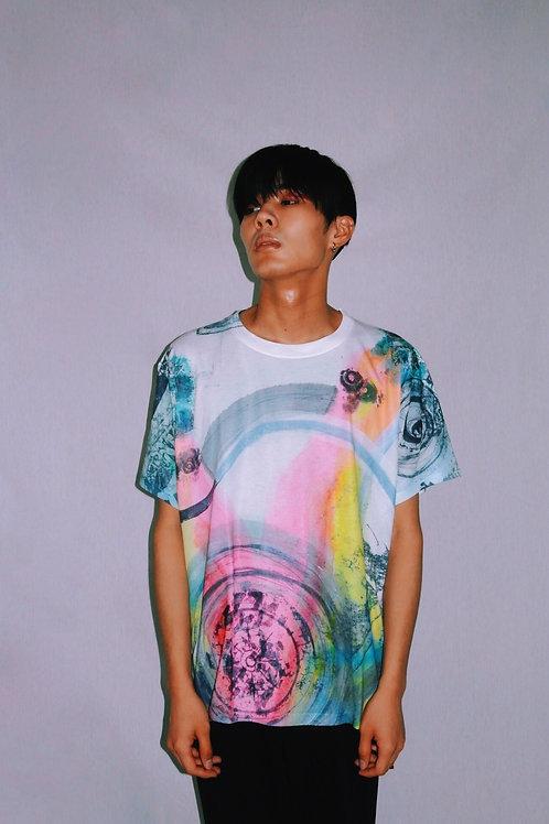ryosuke horiiコラボ柄プリントTシャツ