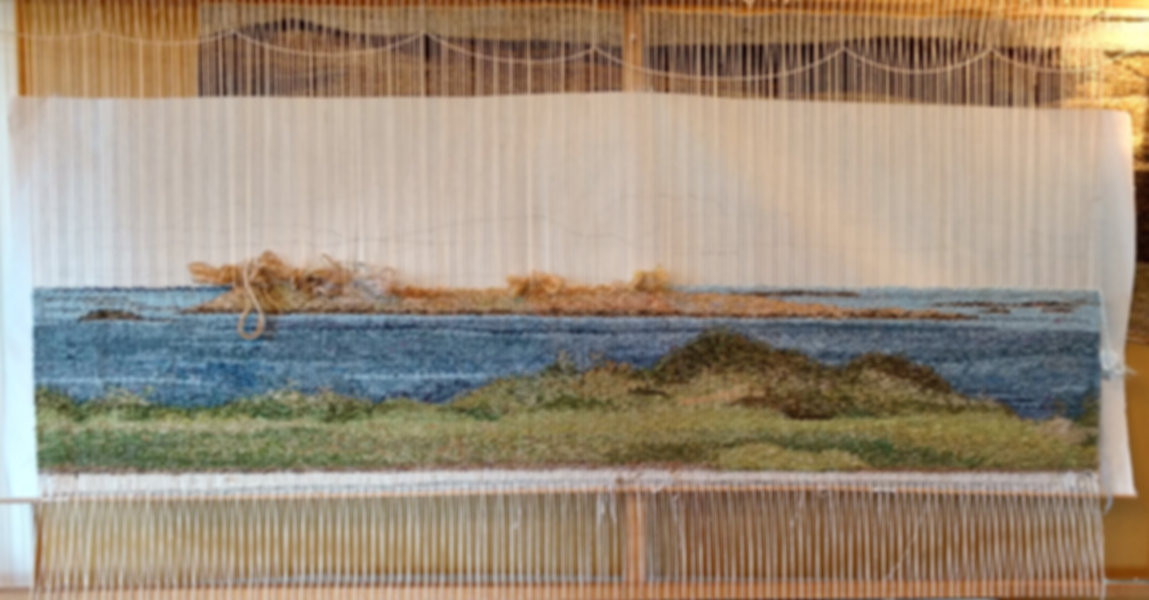 A weaving in progress