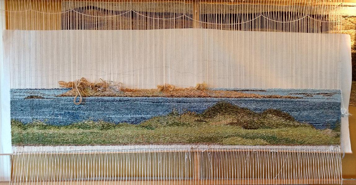 A weaving in progress