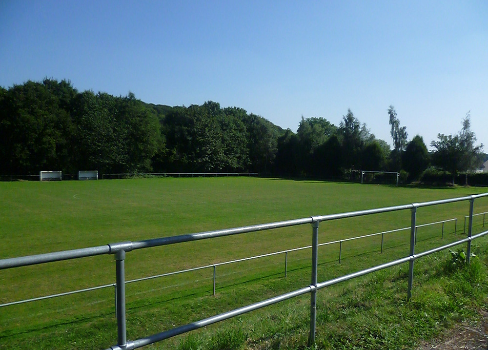Photograph of a football pitch at Plas Kynaston Community Sports Ground