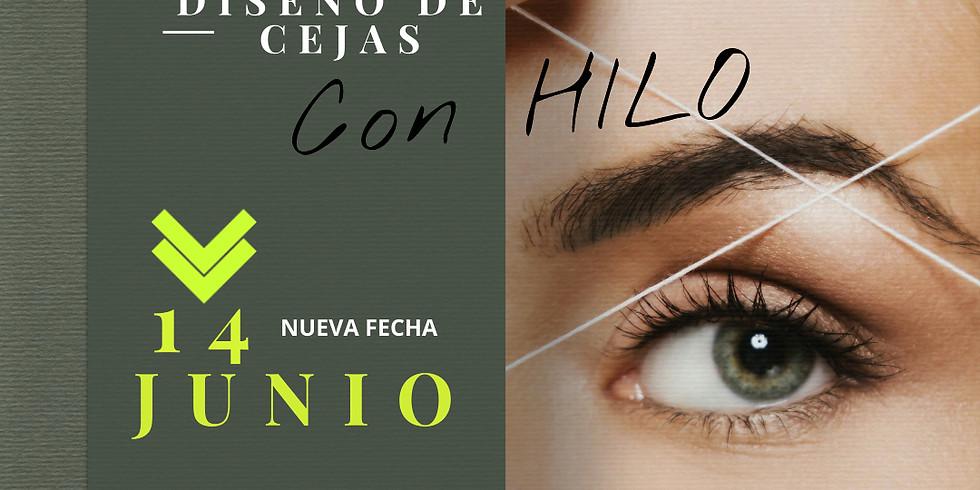 DISEÑO DE CEJAS DEPILACIÓN CON HILO