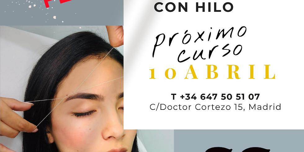 DEPILACION DE CEJAS CON HILO