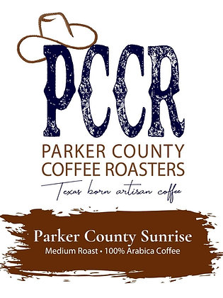 Label for Parker County Sunrise coffee