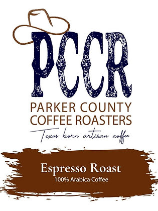 Label for Parker County Coffee Espresso Roast