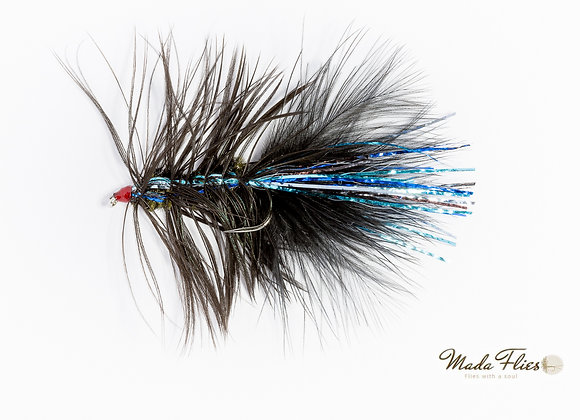 Wooly Bugger, Black and Blue