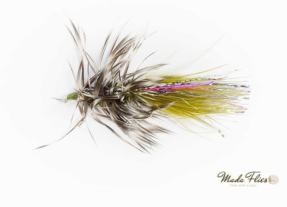 Wooly Bugger, Olive and Pink