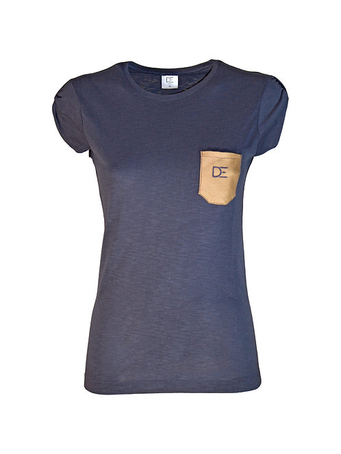 Classic Blue T-shirt DAER - Woman