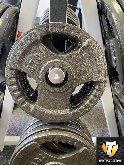 TAG FITNESS 10lb Tri-Grip Iron Olympic Plates