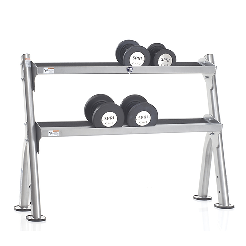 TUFF STUFF Evolution 2-Tier Tray Dumbbell/Kettlebell Rack